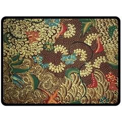 Traditional Batik Art Pattern Double Sided Fleece Blanket (large)