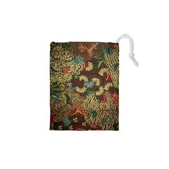 Traditional Batik Art Pattern Drawstring Pouches (xs)