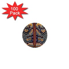 Traditional Batik Indonesia Pattern 1  Mini Buttons (100 Pack)