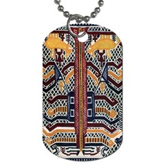 Traditional Batik Indonesia Pattern Dog Tag (two Sides)