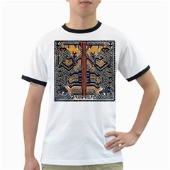 Traditional Batik Indonesia Pattern Ringer T Shirts