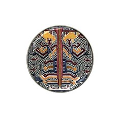 Traditional Batik Indonesia Pattern Hat Clip Ball Marker (10 Pack)