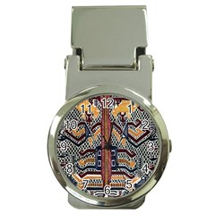 Traditional Batik Indonesia Pattern Money Clip Watches