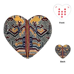 Traditional Batik Indonesia Pattern Playing Cards (heart)