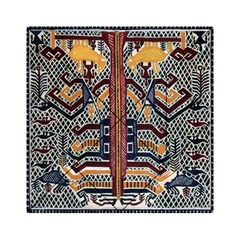 Traditional Batik Indonesia Pattern Acrylic Tangram Puzzle (6  X 6 )