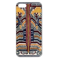 Traditional Batik Indonesia Pattern Apple Seamless Iphone 5 Case (clear)