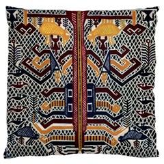 Traditional Batik Indonesia Pattern Large Flano Cushion Case (two Sides)