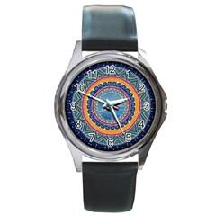 Traditional Pakistani Art Round Metal Watch