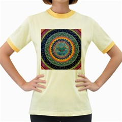 Traditional Pakistani Art Women s Fitted Ringer T Shirts