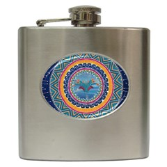 Traditional Pakistani Art Hip Flask (6 Oz)