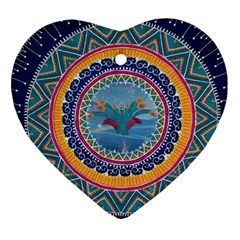 Traditional Pakistani Art Heart Ornament (two Sides)