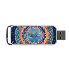 Traditional Pakistani Art Portable Usb Flash (one Side)