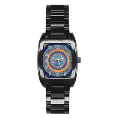 Traditional Pakistani Art Stainless Steel Barrel Watch