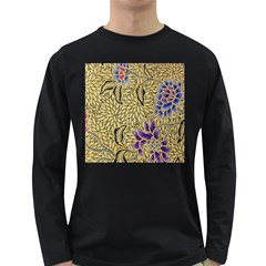 Traditional Art Batik Pattern Long Sleeve Dark T Shirts