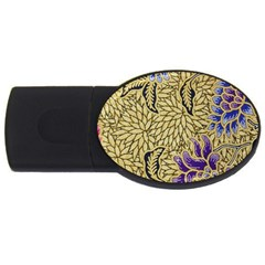 Traditional Art Batik Pattern Usb Flash Drive Oval (4 Gb)