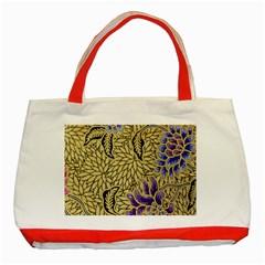 Traditional Art Batik Pattern Classic Tote Bag (red)