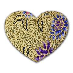 Traditional Art Batik Pattern Heart Mousepads