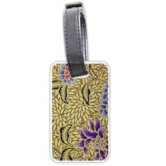 Traditional Art Batik Pattern Luggage Tags (two Sides)