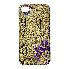 Traditional Art Batik Pattern Apple Iphone 4/4s Hardshell Case With Stand