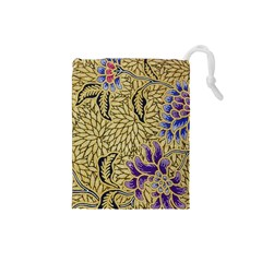 Traditional Art Batik Pattern Drawstring Pouches (small)