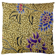 Traditional Art Batik Pattern Standard Flano Cushion Case (one Side)