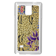 Traditional Art Batik Pattern Samsung Galaxy Note 4 Case (white)