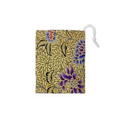 Traditional Art Batik Pattern Drawstring Pouches (xs)