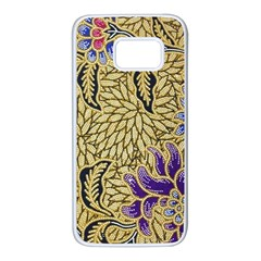 Traditional Art Batik Pattern Samsung Galaxy S7 White Seamless Case