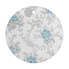 Traditional Art Batik Flower Pattern Ornament (round)