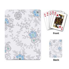 Traditional Art Batik Flower Pattern Playing Card