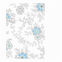 Traditional Art Batik Flower Pattern Small Garden Flag (two Sides)