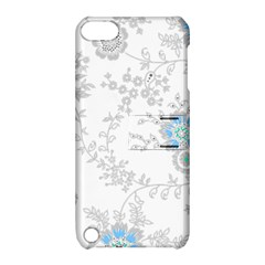 Traditional Art Batik Flower Pattern Apple Ipod Touch 5 Hardshell Case With Stand