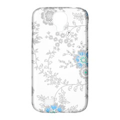 Traditional Art Batik Flower Pattern Samsung Galaxy S4 Classic Hardshell Case (pc+silicone)
