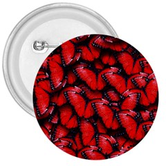 The Red Butterflies Sticking Together In The Nature 3  Buttons
