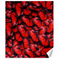 The Red Butterflies Sticking Together In The Nature Canvas 20  X 24