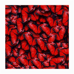 The Red Butterflies Sticking Together In The Nature Medium Glasses Cloth (2 Side)