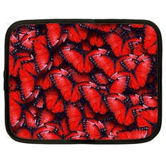 The Red Butterflies Sticking Together In The Nature Netbook Case (large)