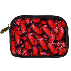 The Red Butterflies Sticking Together In The Nature Digital Camera Cases