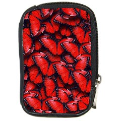 The Red Butterflies Sticking Together In The Nature Compact Camera Cases