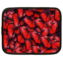 The Red Butterflies Sticking Together In The Nature Netbook Case (xxl)