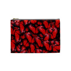 The Red Butterflies Sticking Together In The Nature Cosmetic Bag (medium)