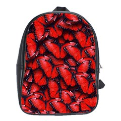 The Red Butterflies Sticking Together In The Nature School Bags(large)