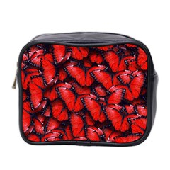 The Red Butterflies Sticking Together In The Nature Mini Toiletries Bag 2 Side