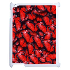 The Red Butterflies Sticking Together In The Nature Apple Ipad 2 Case (white)