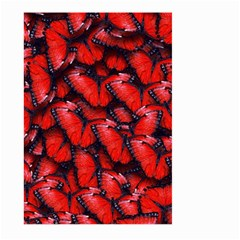 The Red Butterflies Sticking Together In The Nature Large Garden Flag (two Sides)