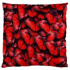 The Red Butterflies Sticking Together In The Nature Large Cushion Case (two Sides)