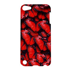The Red Butterflies Sticking Together In The Nature Apple Ipod Touch 5 Hardshell Case