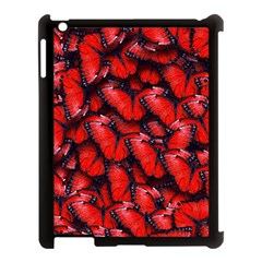 The Red Butterflies Sticking Together In The Nature Apple Ipad 3/4 Case (black)