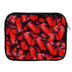 The Red Butterflies Sticking Together In The Nature Apple Ipad 2/3/4 Zipper Cases