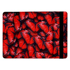 The Red Butterflies Sticking Together In The Nature Samsung Galaxy Tab Pro 12 2  Flip Case